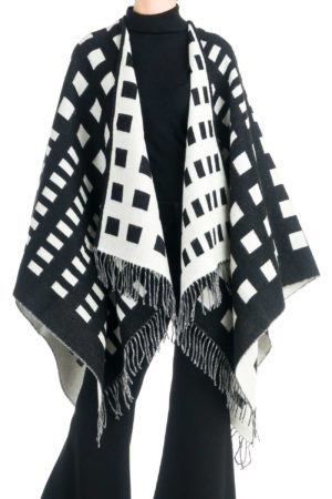 geometric-mix-wool-cape